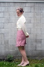 Pink-vintage-from-trademe-dress-pink-no1-shoes-shoes-pink-accessories-whit