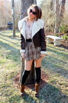 f21 jacket - Charlotte Russe socks - f21 skirt