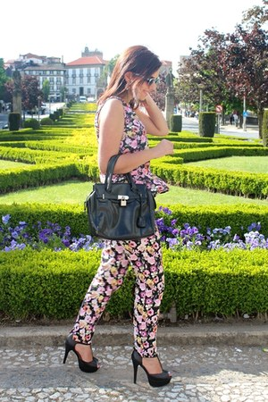 H&amp;M top - Parfois bag - H&amp;M pants - Bata heels