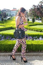 H&M top - Parfois bag - H&M pants - Bata heels
