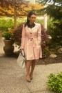 Pink-h-m-coat-gray-fendi-purse-flower-black-necklace-nude-heels