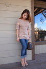 Navy-levis-jeans-beige-talbots-sweater-brown-speedy-louis-vuitton-bag