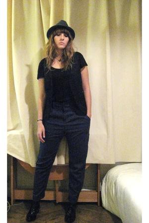 Topshop hat - AMERICAN VINTAGE top - Zara pants - Minelli shoes