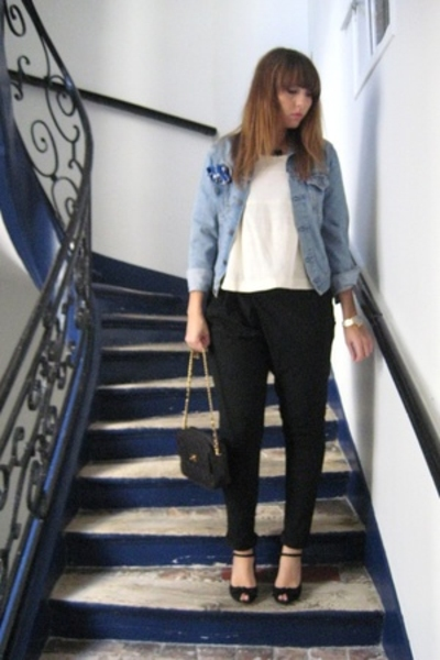 Levis jacket - Isabel Marant top - Zara pants - Chanel purse