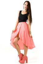 bubble gum petal skirt skirt