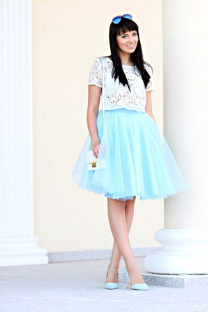 light blue Mosquito skirt