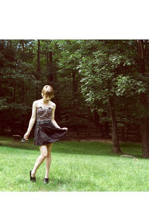 Topshop dress - Forever21 skirt - vintage belt