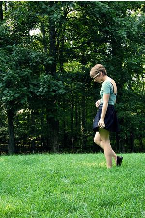 American Apparel dress - Forever21 skirt - vintage belt - Aldo shoes - Forever21