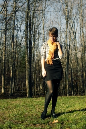 H&amp;M sweater - H&amp;M skirt - Old Navy tights