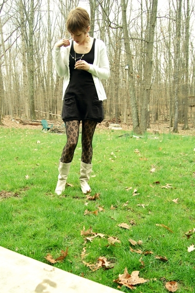 H&M dress - Old Navy sweater - Aldo boots - Forever21 jacket