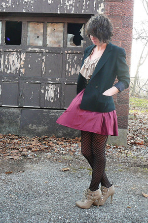 black Hand me down from my mom blazer - black Target tights - beige Forever 21 t