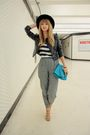 Gray-american-apparel-pants-black-h-m-jacket-beige-surface-to-air-shoes-bl