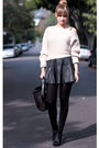 Black-zara-skirt-beige-nastygal-sweater