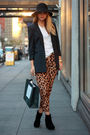 Blue-bird-by-juicy-couture-blazer-brown-asos-pants-white-t-by-alexander-wang