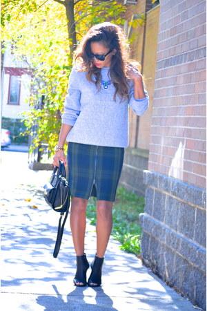tartan H&M skirt