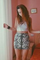 H&M top - geometric H&M skirt - Forever 21 bracelet