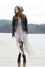 Black-vince-camuto-boots-silver-sheinside-dress