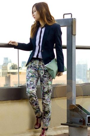 Zara pants - Zara blazer - Jacob blouse - DIY pumps