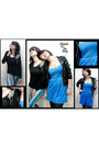 Blue-popped-to-the-shop-dress-black-popped-to-the-shop-jacket-black-popped-t