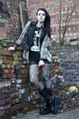 Rocker-sella-boots-mesh-worn-under-american-apparel-dress-plaid-vans-shirt