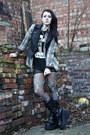 Rocker-sella-boots-mesh-worn-under-american-apparel-dress-plaid-vans-shirt