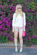 Sheinsidecom shorts - H&M sweater - Zara heels