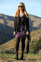 peplum Forever 21 skirt - missoni for target cardigan - Frenchi t-shirt
