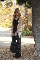 crochet everly vest - sam edelman boots - embroidered BDG jeans