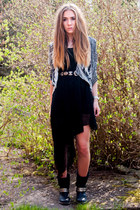 Urban Outfitters belt - studded Steve Madden boots - OASAP dress