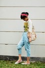 Red-diy-accessories-chartreuse-random-brand-top-sky-blue-random-brand-jeans-