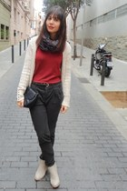 Zara pants - Coolway boots - Mango bag - Zara cardigan - Zara jumper
