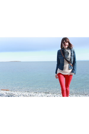 Pull and Bear jeans - Dolce Vita boots - Gap jacket - Club Monaco sweater