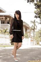 white bow no brand belt - black a-line ianywear dress
