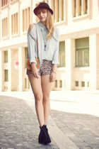 litas Jeffrey Campbell heels - H&M hat - purse - Urban Outfitters shorts