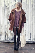 Zara jacket - brandy&melville sweater - See by Chloe bag