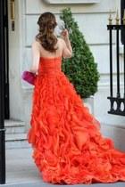 chiffon dress - purse