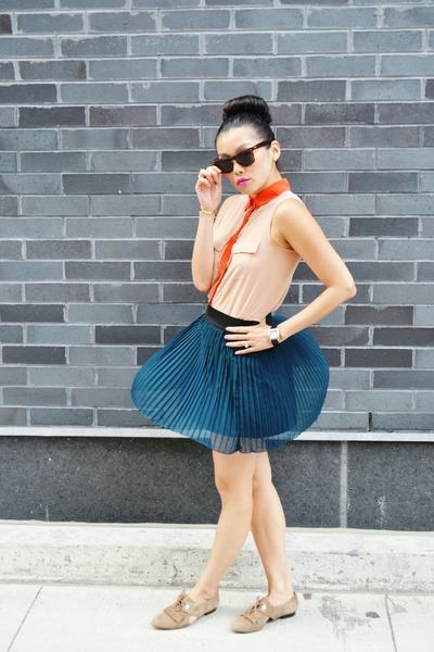 Lush skirt - Joe Fresh blouse - Michael Kors flats