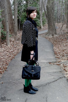 black Target boots - black handmade dress - black sweater