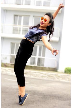 Zara blazer - garrage top - rubi flats - Primark necklace