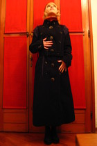 black Issey Miyake coat