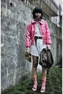 Hot-pink-krny-jacket-white-graphis-top-dark-gray-belt-salmon-sky-socks-b