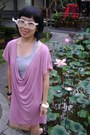 Pink-magnolia-dress-heather-gray-top-white-glasses-ivory-bracelet-black-