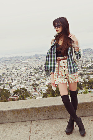 sam edelman boots - Zara sweater - Marc by Marc Jacobs sunglasses - Zara belt -
