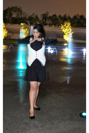 dress - Zara vest - shoes