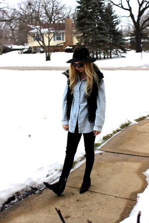 black Cheap Monday boots - Zara vest