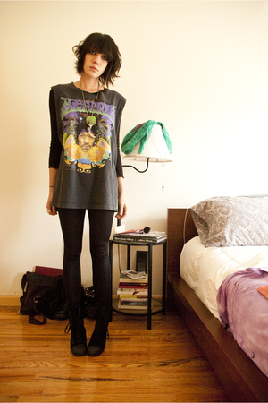 hendrix salvation army shirt - random long sleeve top - aa matte leggings - tops