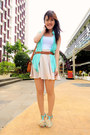 Aquamarine-sleveless-keep-it-chic-shirt-eggshell-keep-it-chic-skirt