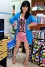 Bubble-gum-gothic-lollita-local-boutique-dress-sky-blue-loose-gaudi-blazer