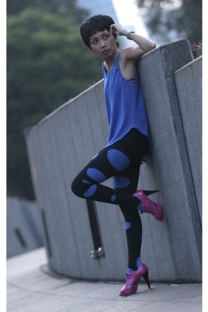 ruph top - H&M tights - DIY tights - Funist shoes