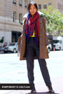 Michael Kors coat - Diane Von Furstenberg scarf - Nexx blouse